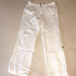 Merona white linen pants size medium